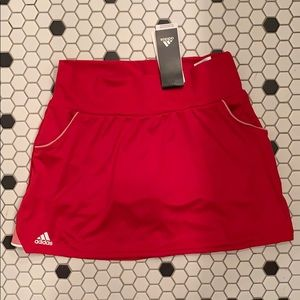New! ADIDAS tennis club skirt red scarlet SMALL